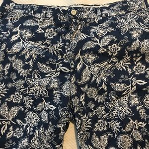 Polo Ralph Lauren Navy White Floral Shorts 33